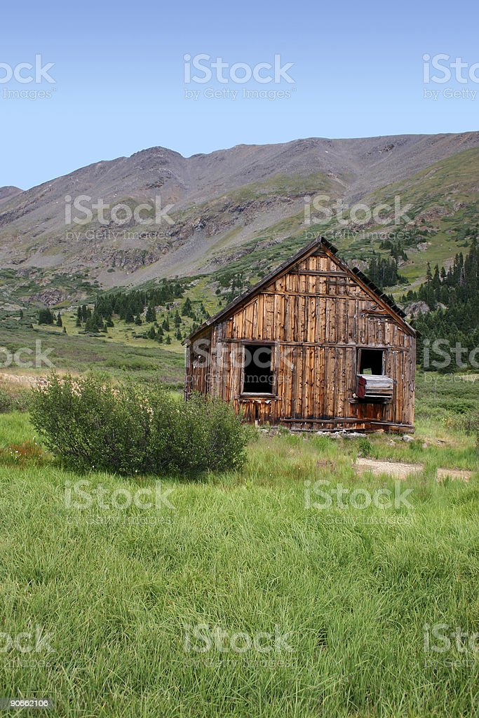 Old Alpine Cabin royalty-free stock photo
