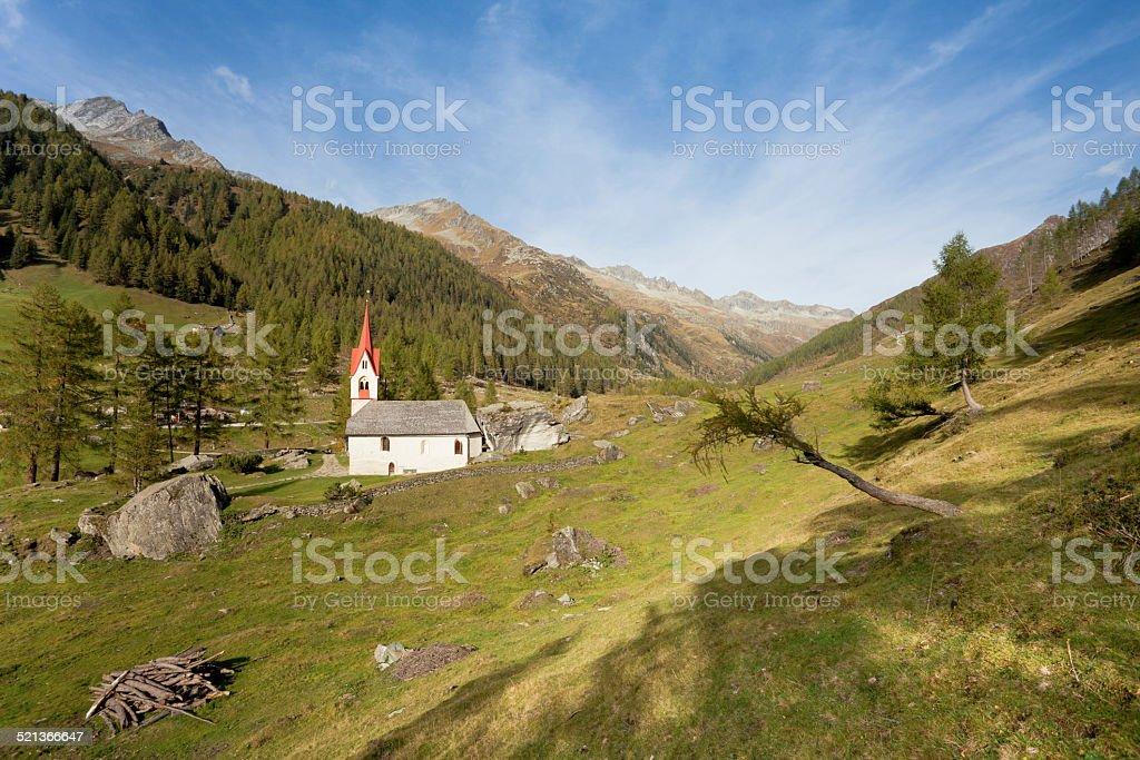 old alpine church stock photo