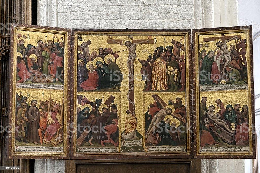 Old Altarpiece stock photo