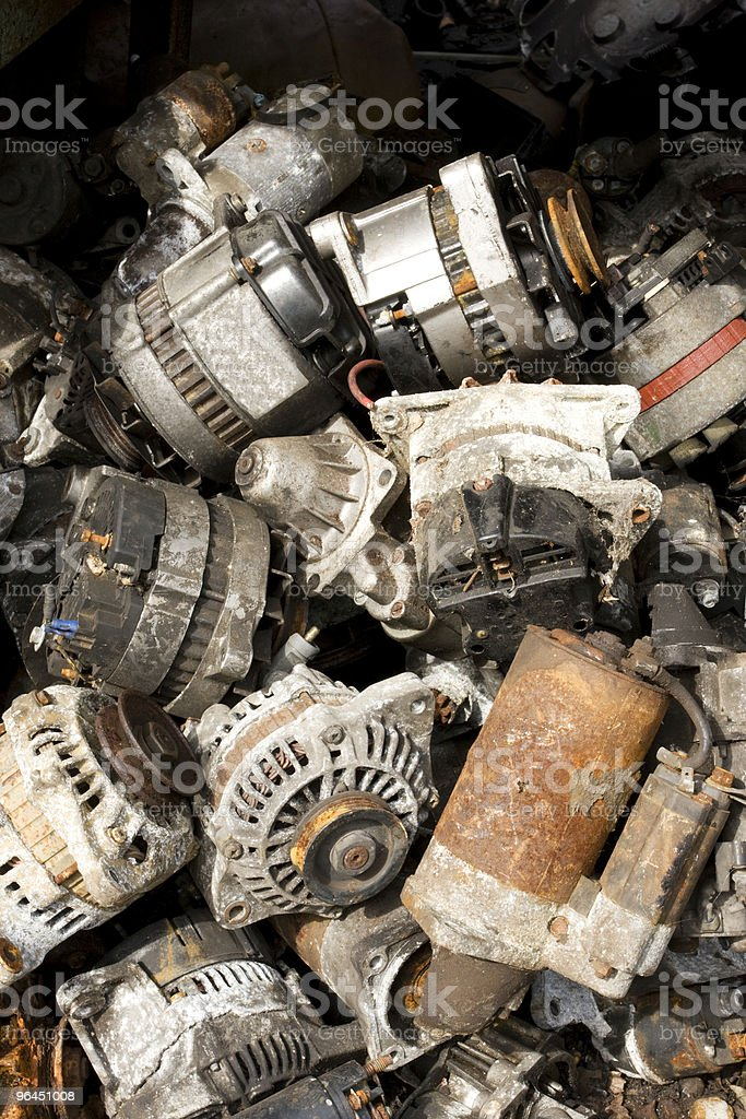old  alternators stock photo