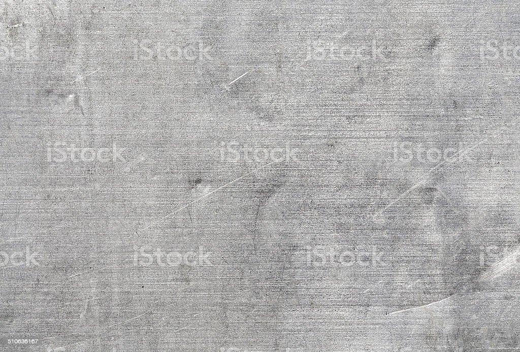 Old aluminium, scratches, dents. stock photo