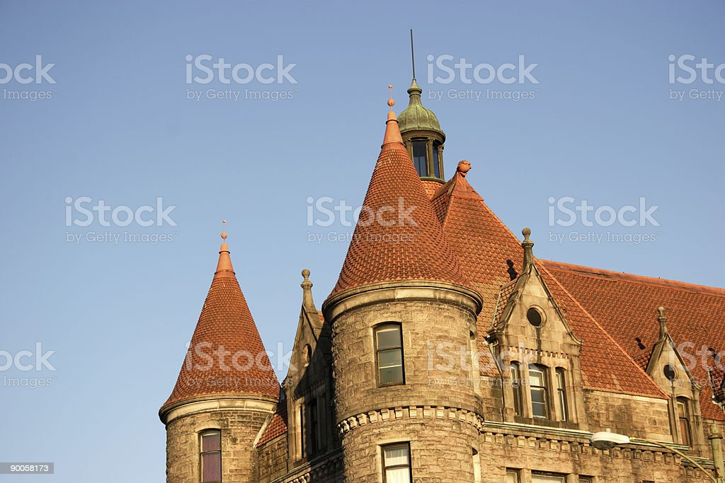 old american architecture (landscape) royalty-free stock photo