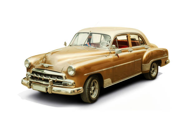 Car Collector S Car White Background Cuba Pictures Images And