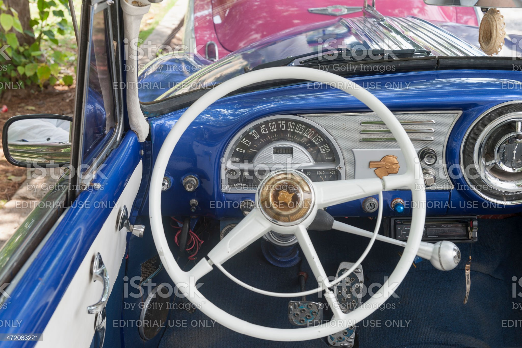 old american cars parked in Havana, Cuba royalty-free stock photo