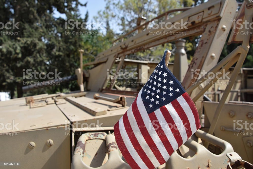 Old American military vehicle stock photo