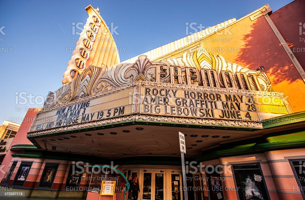 Old American Movie Theater - Fremont stock photo