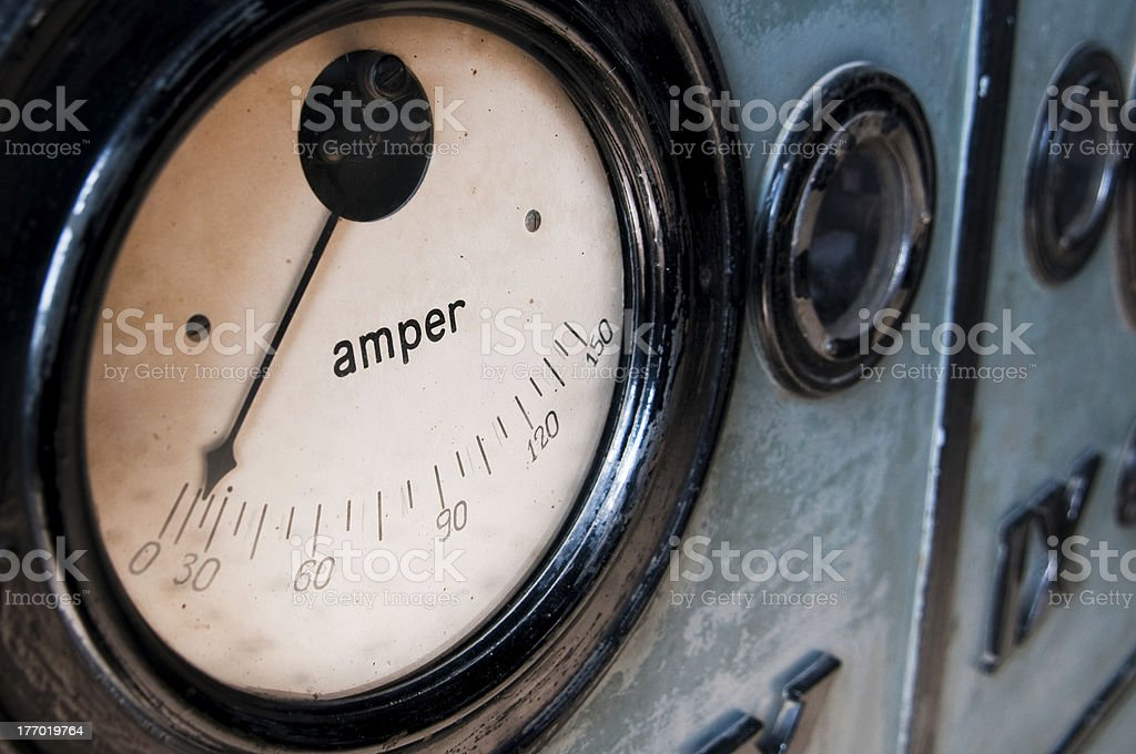 Old Amperage Meter stock photo