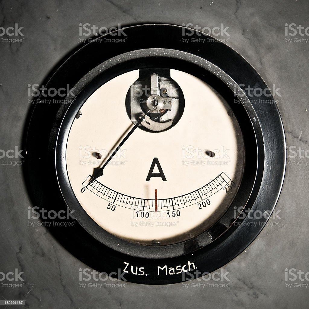 Old Amperage Meter royalty-free stock photo