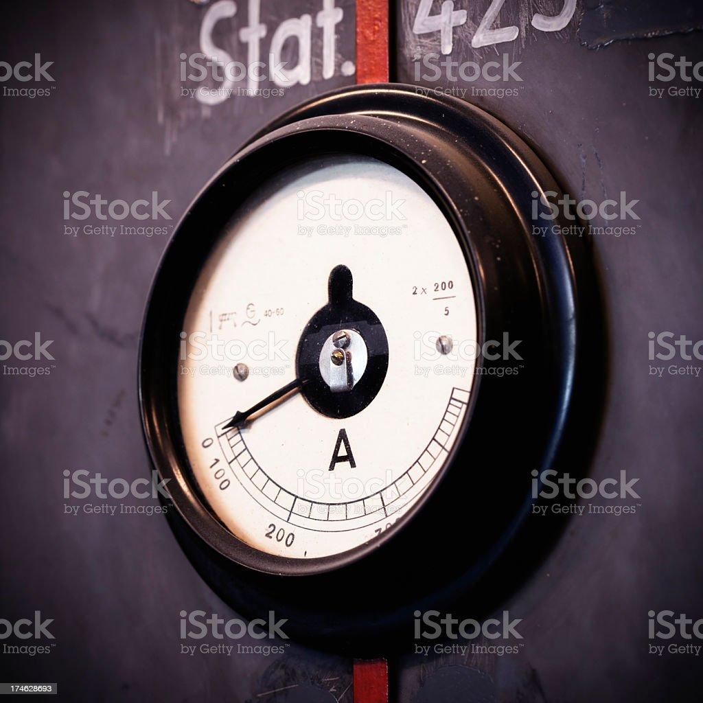 Old amperemeter stock photo