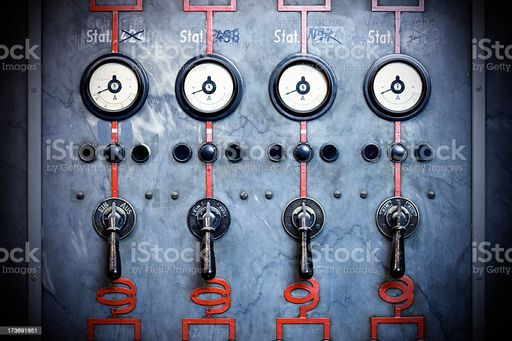 Old amperemeters royalty-free stock photo