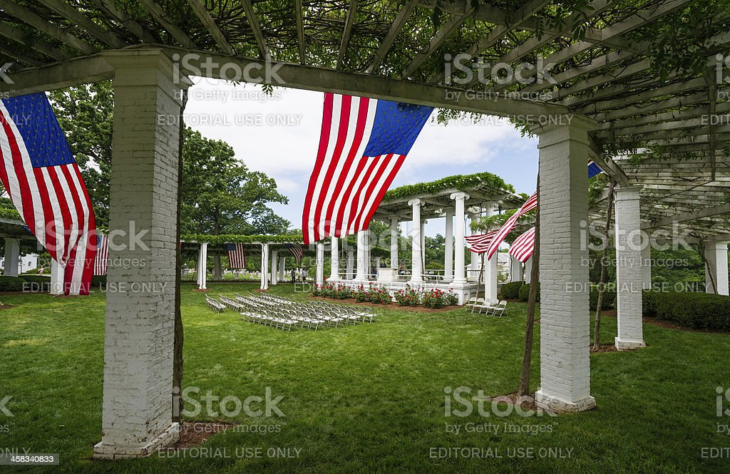 'Old Amphitheater' at Arlington National Cemetery, Virginia, USA royalty-free stock photo
