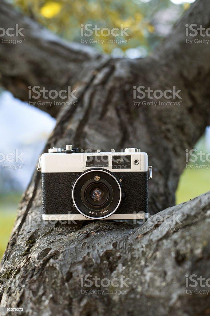 Old analog camera royalty-free stock photo