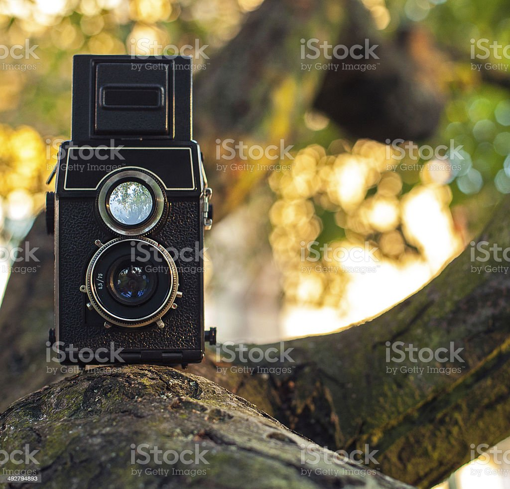 Old analog camera royalty-free stock photo
