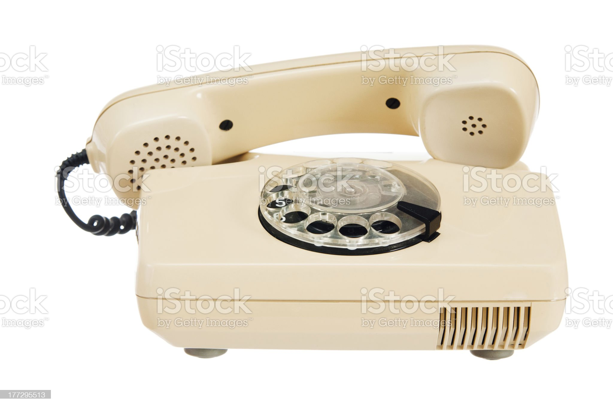 Old analog phone with a disk royalty-free stock photo