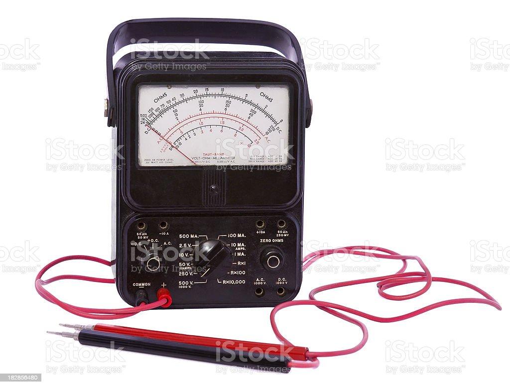 old analog voltage meter royalty-free stock photo