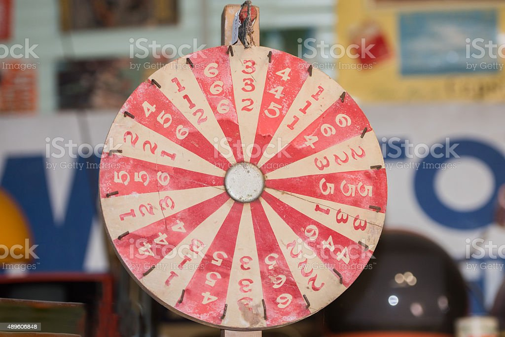 old ancient wheel of fortune stock photo