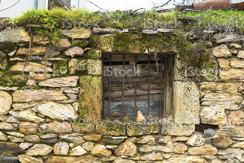 Old ancient windows royalty-free stock photo