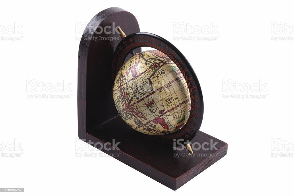 Old and antique globe royalty-free stock photo