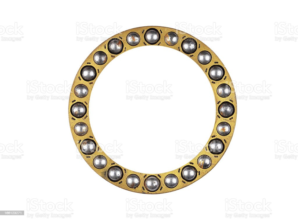 Old and dirty ball bearings royalty-free stock photo