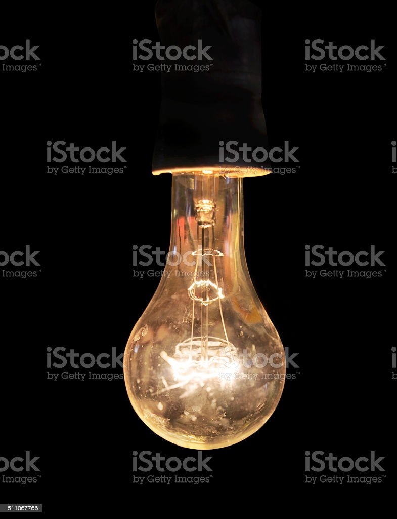 Old and dirty light bulp stock photo