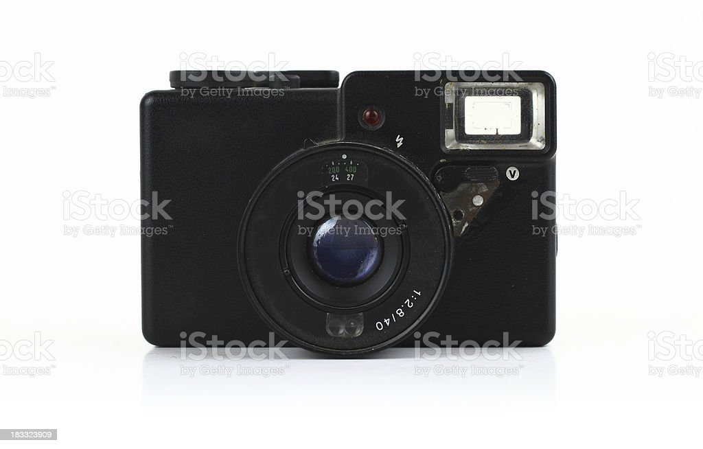 Old and dirty photo camera royalty-free stock photo