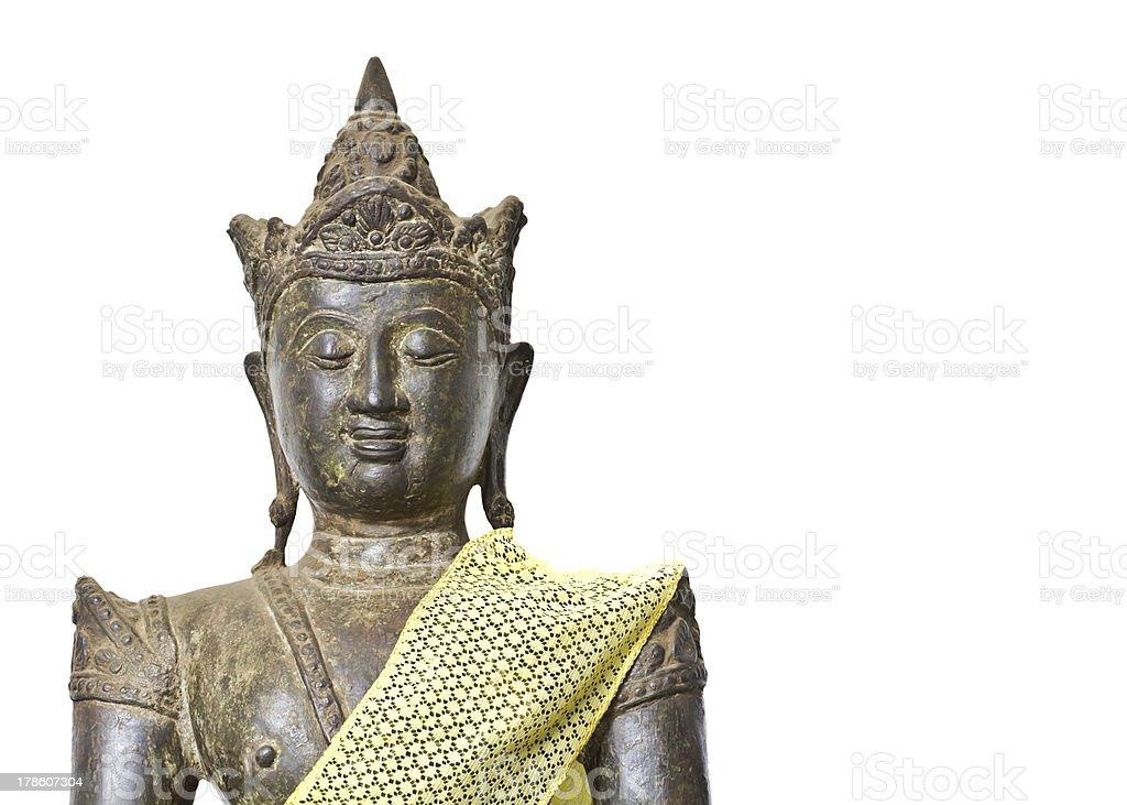 Old and grunge buddha image royalty-free stock photo