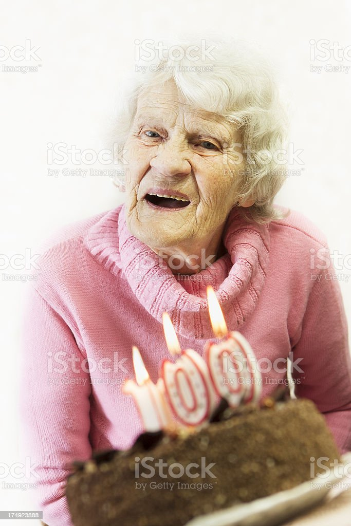 old and happy royalty-free stock photo
