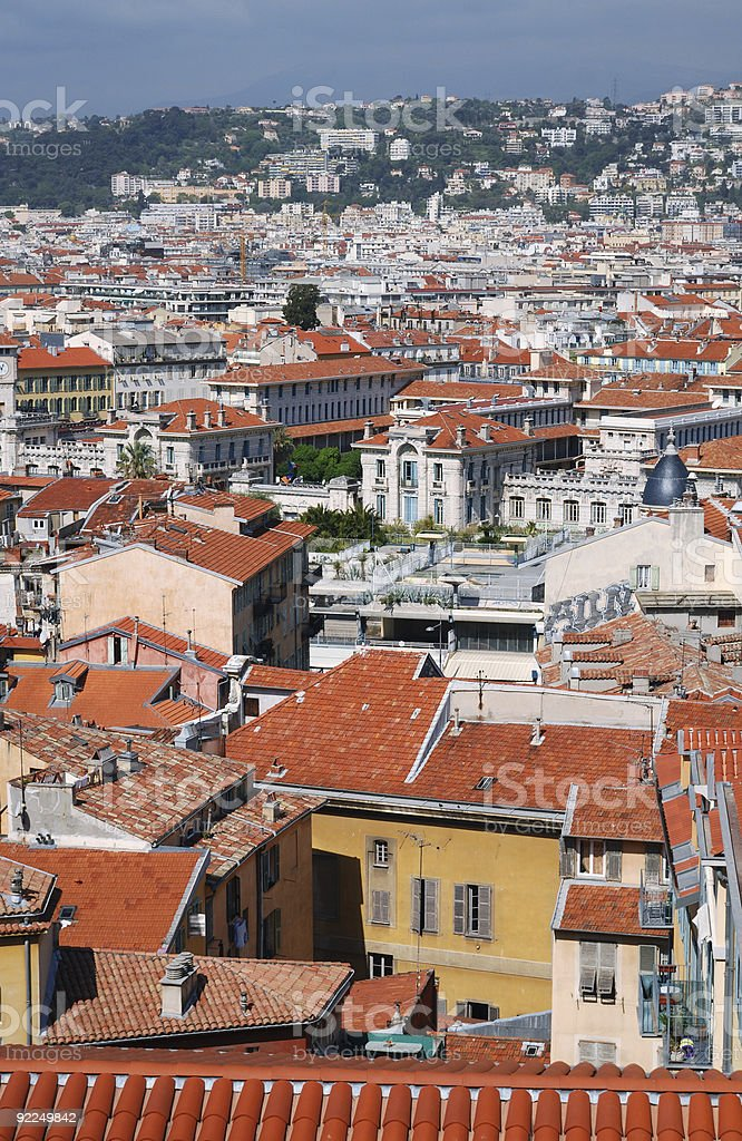 Old and modern Nice, view from above royalty-free stock photo