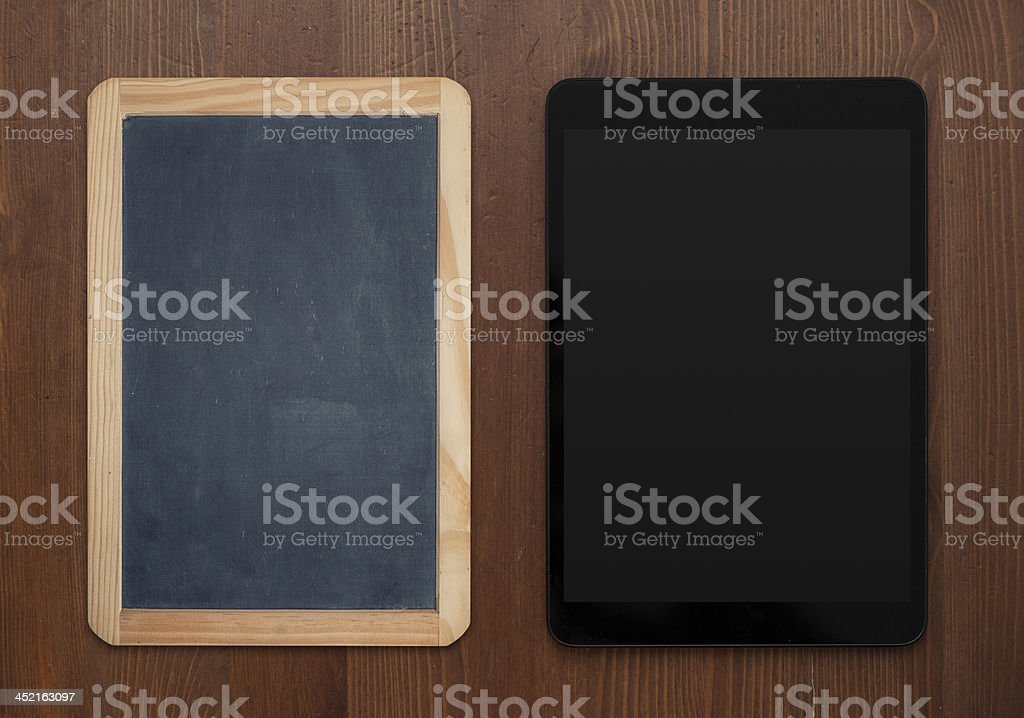 old and modern stock photo
