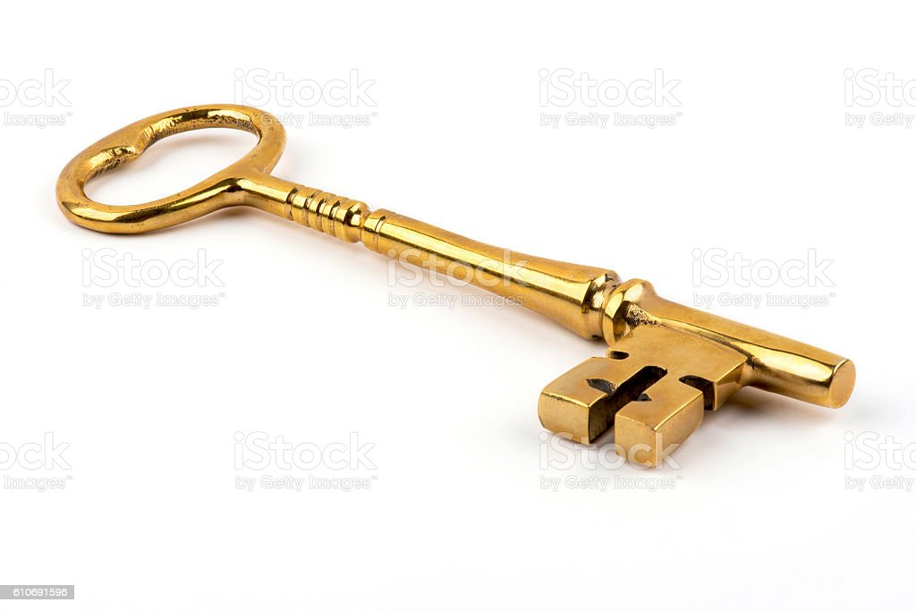 Old and mystic key stock photo