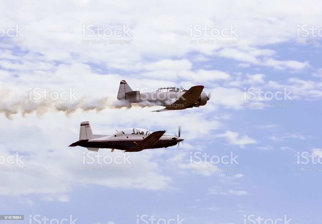 Old and New Air Force Trainers royalty-free stock photo