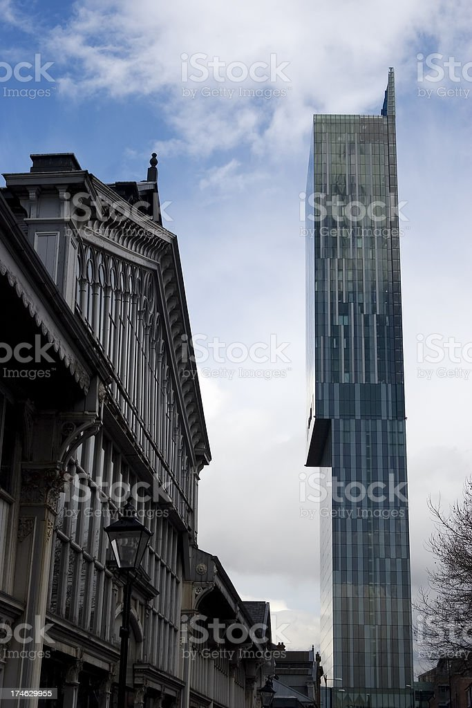 Old and new architecture royalty-free stock photo