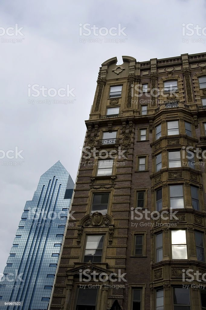 Old and new architecture stock photo