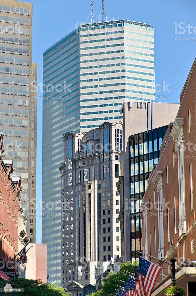 Old and New Boston royalty-free stock photo