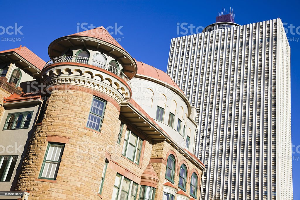 Old and new buildings in  downtown Memphis royalty-free stock photo