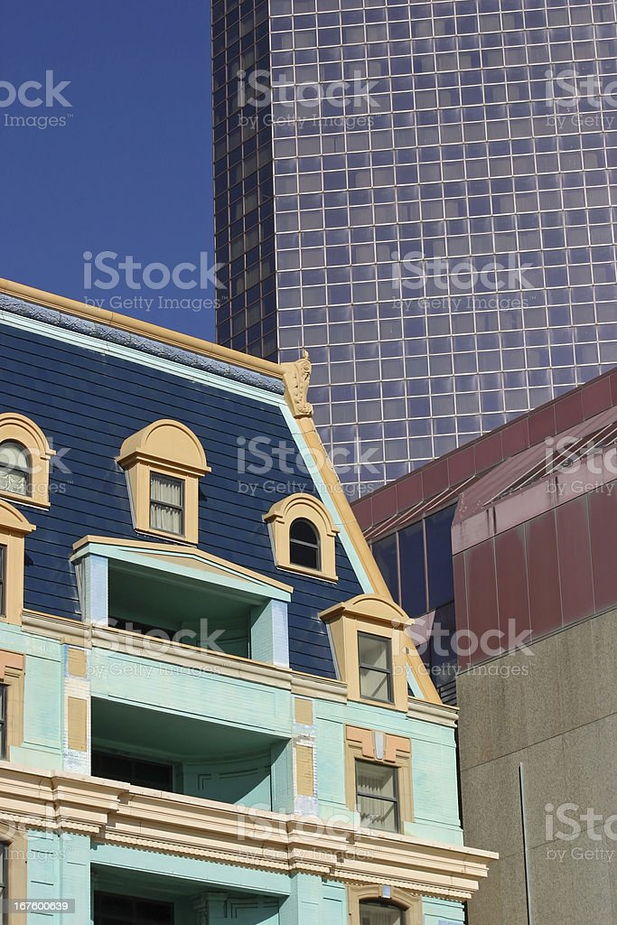 Old and New Buildings royalty-free stock photo