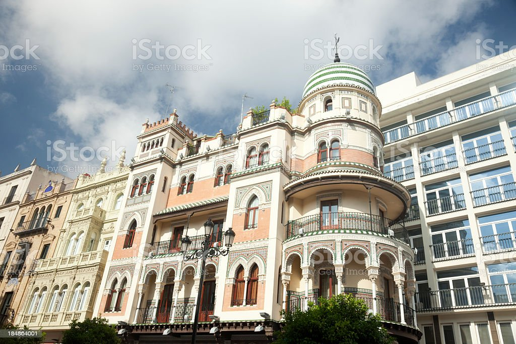 Old and new buildings, Seville, Spain royalty-free stock photo