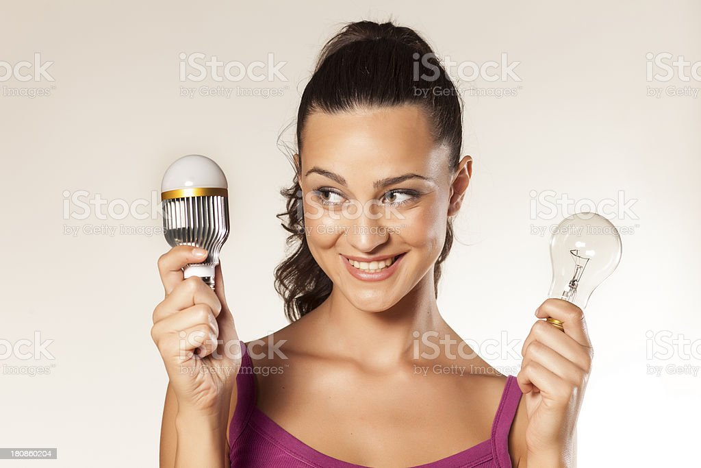 old and new bulb royalty-free stock photo