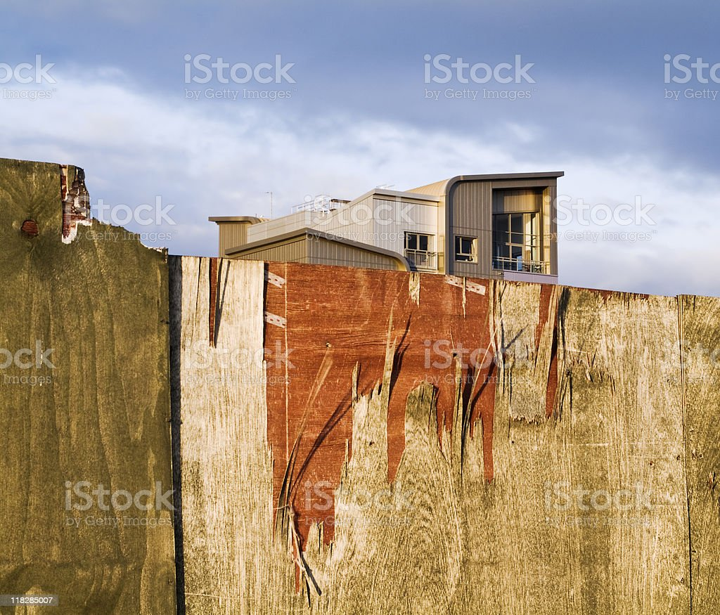 Old and new constructions royalty-free stock photo