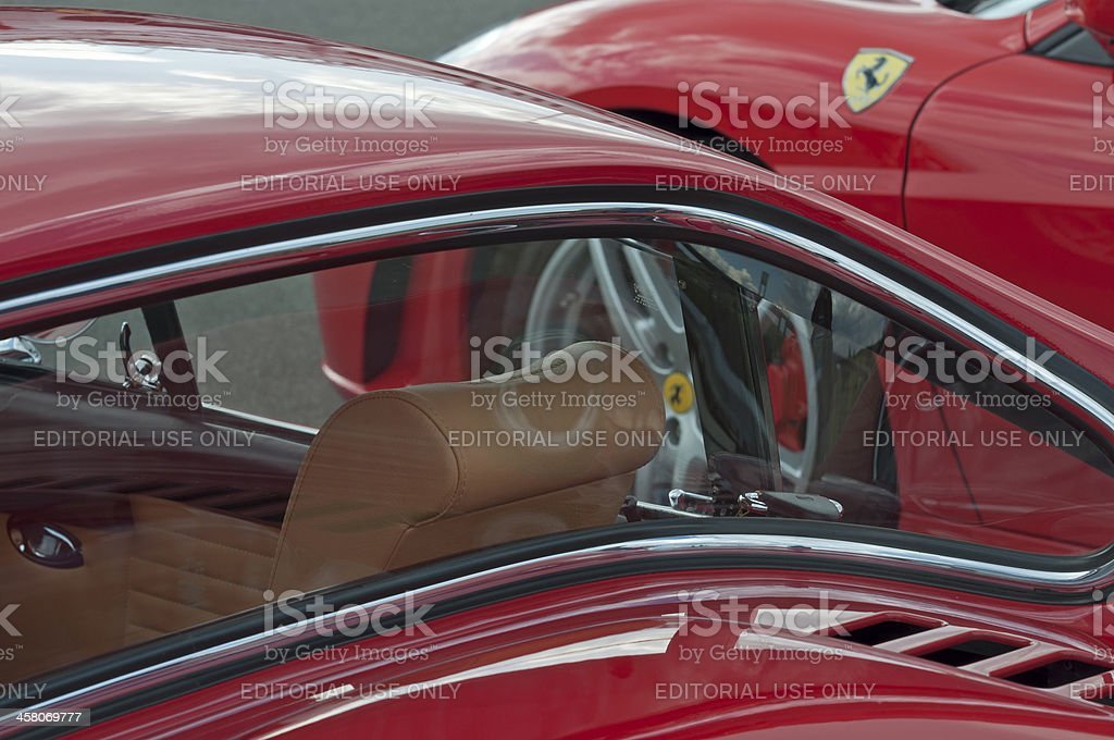 Old and new Ferrari stock photo