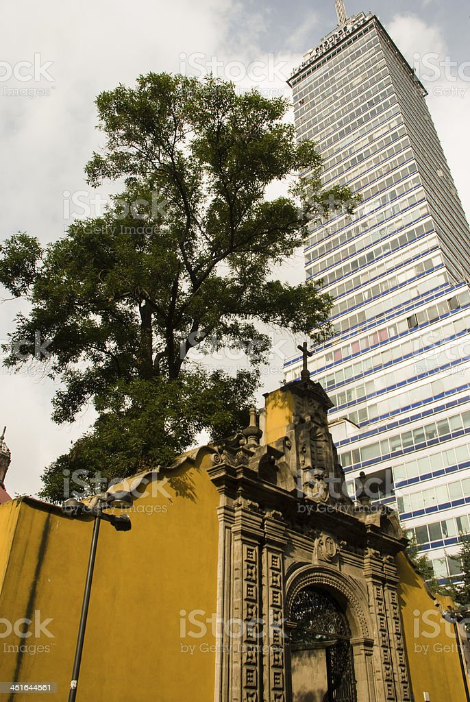 Old and New in Mexico City stock photo
