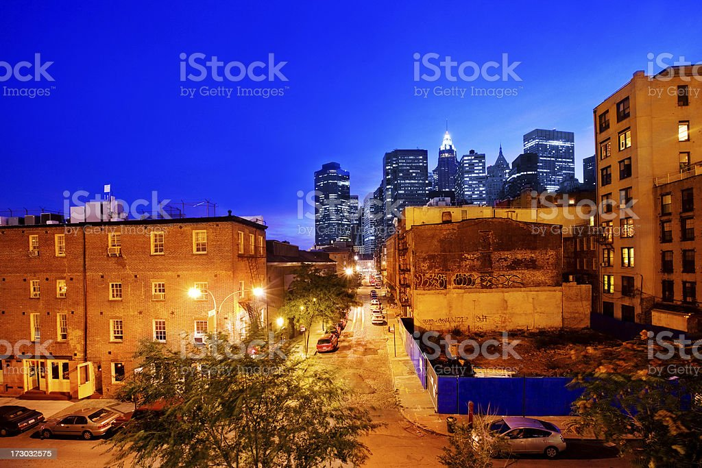 old and new Manhattan royalty-free stock photo