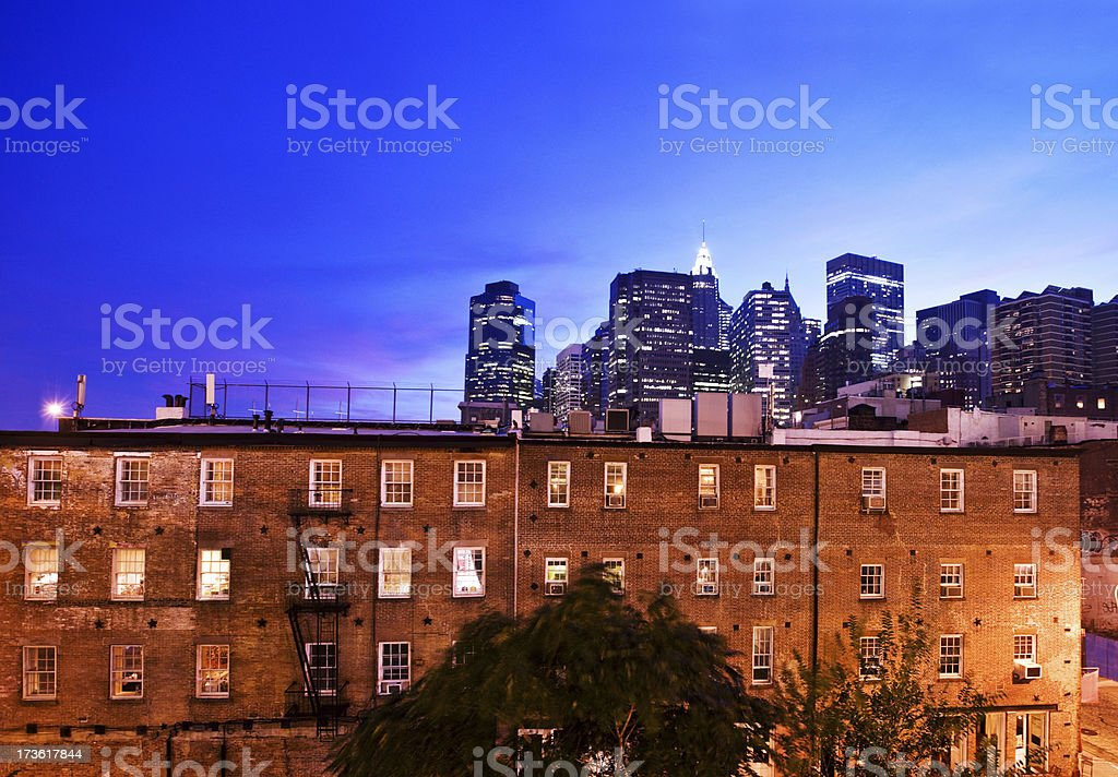 old and new Manhattan stock photo