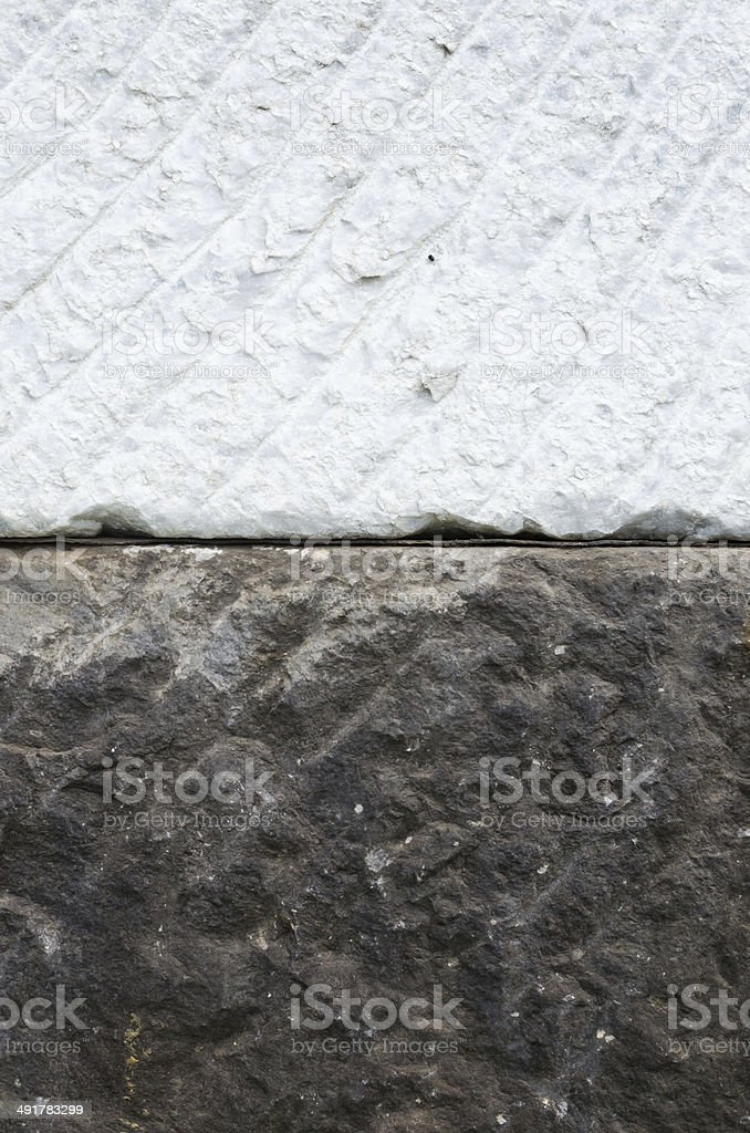 old and new marble block stock photo