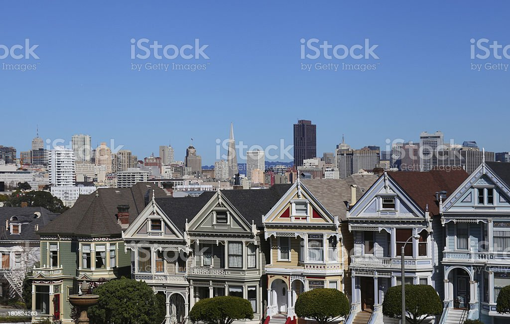 Old and New San Francisco royalty-free stock photo