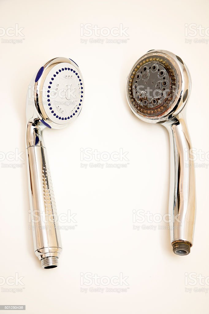 Old and New Showerhead stock photo
