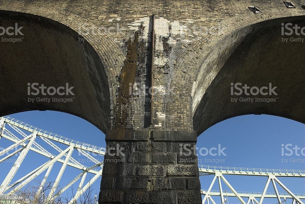 Old And New Structures stock photo