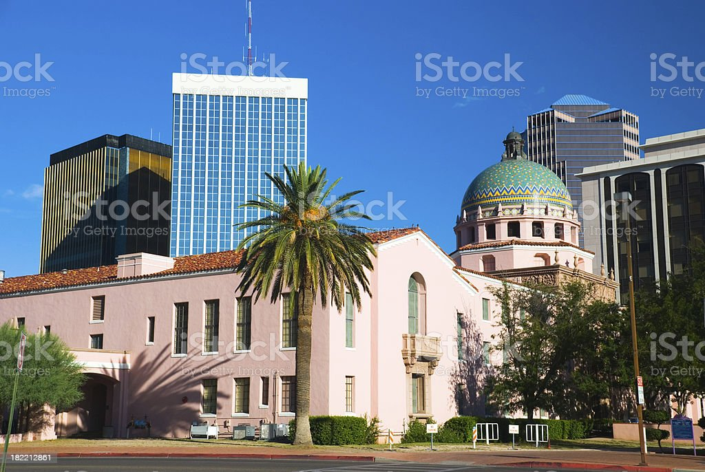 Old and New: Tucson Architecture royalty-free stock photo