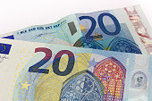 Old and New twenty 20 euro banknote bill front