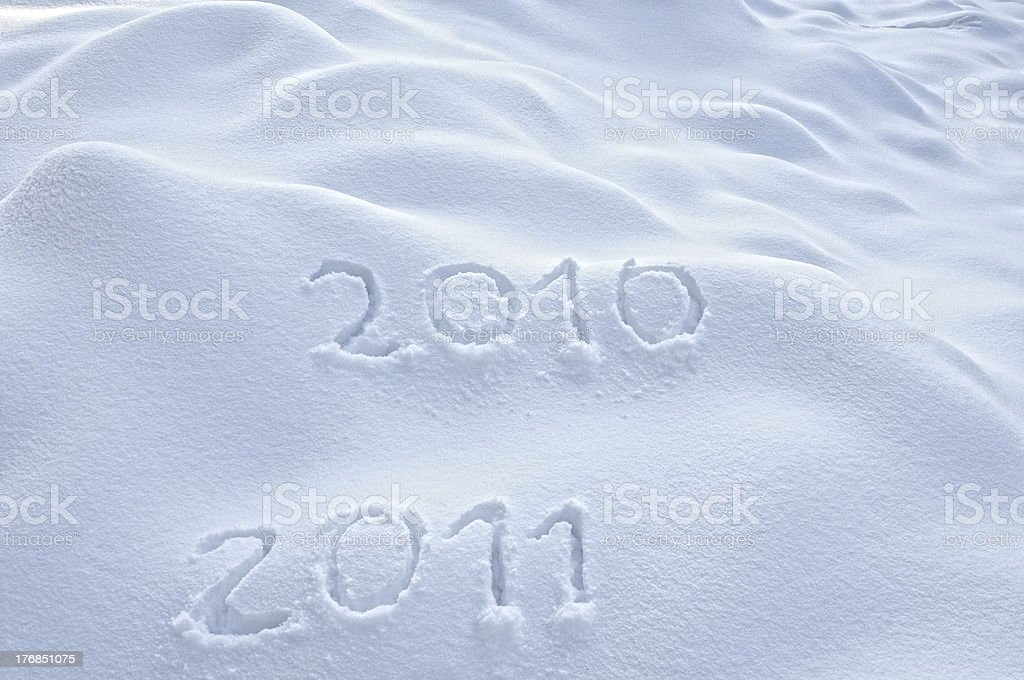 Old and New Year stock photo